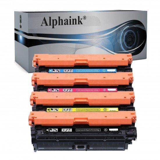 4 Toner HP CE740A Nero + Colore Compatibile