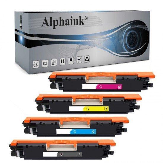 4 Toner HP Laserjet CE310 CE311 CE312 CE313 Nero + Colore Compatibile