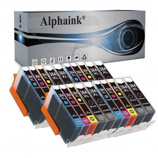 20 Cartucce HP 364 XL Nero + Colore Compatibile
