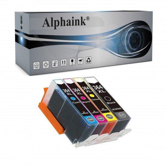 4 Cartucce Hp 364 XL Nero + Colore con CHIP Compatibile
