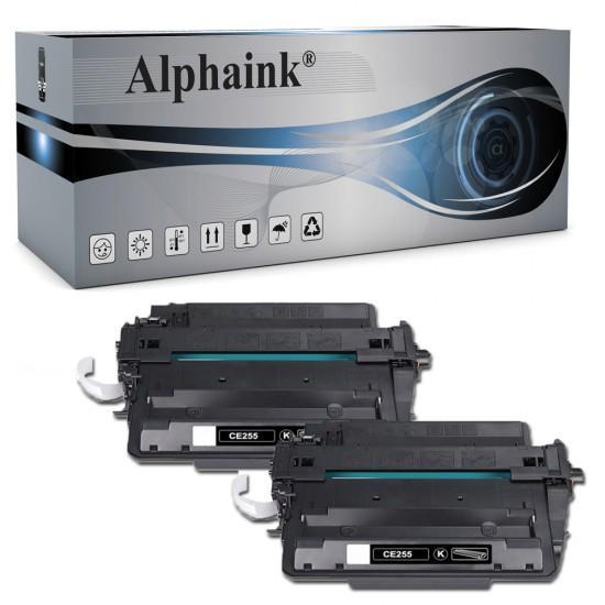 2 Toner HP CE255A Nero Compatibili