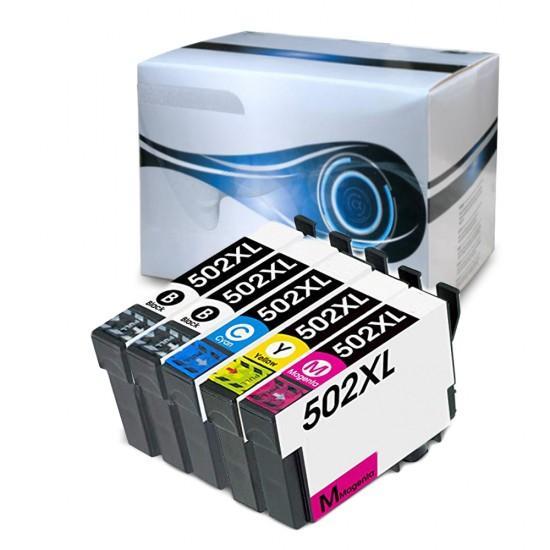 5 Cartucce Epson 502XL Nero + Colore Compatibili