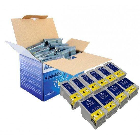 10 Cartucce Epson T050-T052 Nero e Colore Compatibili