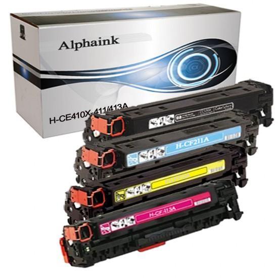 4 Toner HP CE410X-411A-412A-413A Nero + Colore Compatibili